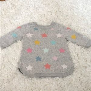 Baby girl gap sweater stars tunic length 3-6 month